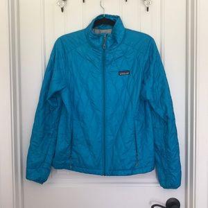 Patagonia Nano Puff Teal Zip Up Jacket